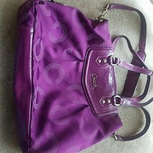 Plum colored Coach purse